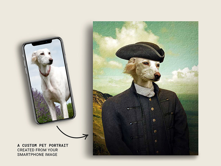 Poldark Ross, Pet Portraits, Custom Dog Canvas Prints