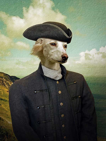 Poldark Ross, Pet Portraits, Personalised Custom Pet Canvas, Renaissance Dog Art