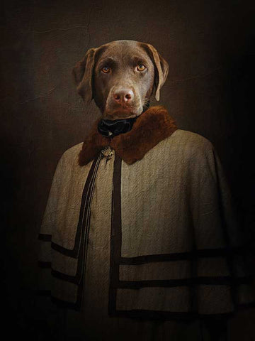 Victorian Gentleman, Pet Portraits, Personalised Custom Pet Canvas, Renaissance Dog Art