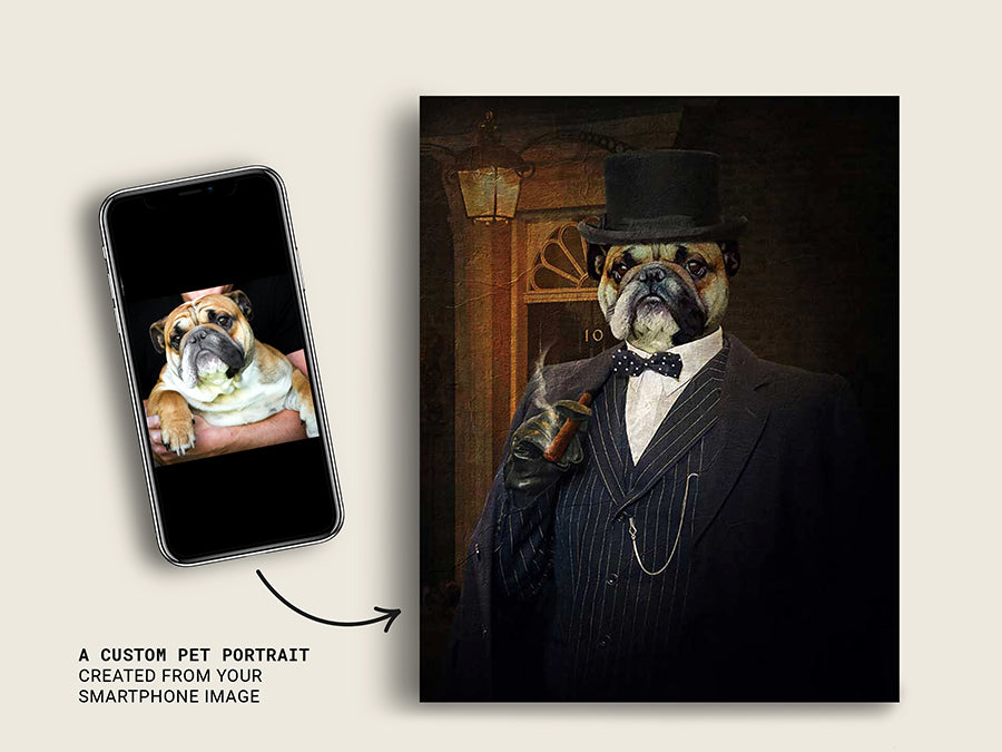 Winston Churchill, Pet Portraits, Custom Dog Canvas Prints