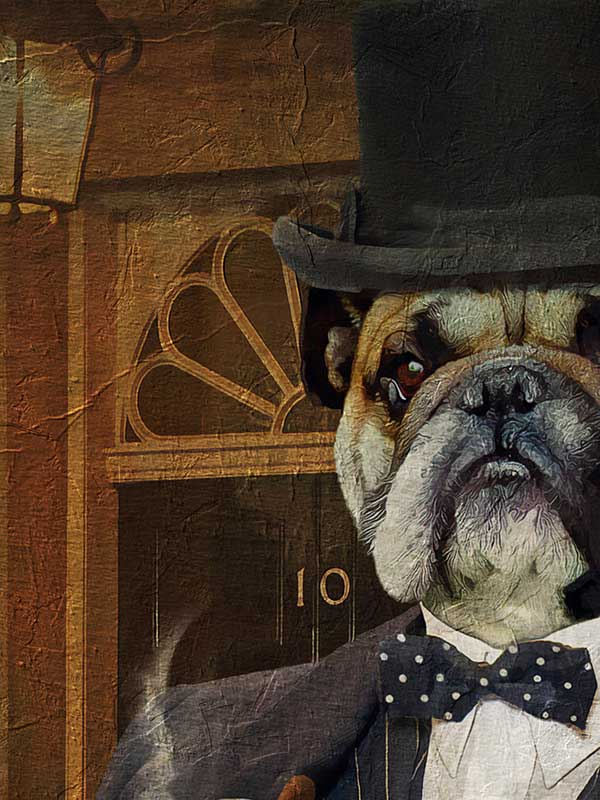Winston Churchill, Pet Portraits, Personalised Custom Pet Canvas, Renaissance Dog Art