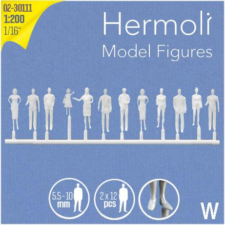 HERMOLI STANDING FIGURES, SCALE M=1:200 (SELECT SIZE AND COLOUR)