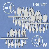 SILHOUETTE FIGURES, SCALE M=1:50 (SELECT SIZE AND COLOUR)