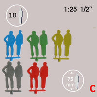 SILHOUETTE FIGURES, SCALE M=1:25 (SELECT SIZE AND COLOUR)