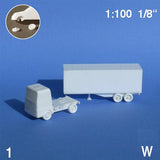 TRUCKS, SELECT FROM 2 DIFFERENT VARIANTS, WHITE, SCALE M=1:100