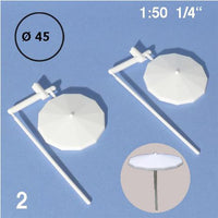 PARASOLS, WHITE (SELECT SCALE / SIZE)