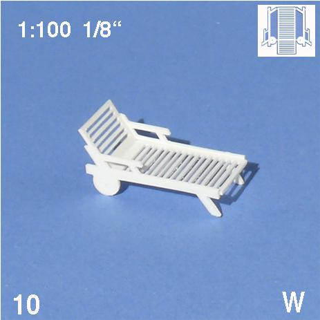 DECK CHAIRS, CNC-DRILLED, SCALE M=1:100