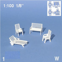 GARDEN FURNITURE, SCALE M=1:100