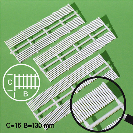 LATTICE FENCE ELEMENTS, WHITE, M=1:100 (6 PCS)