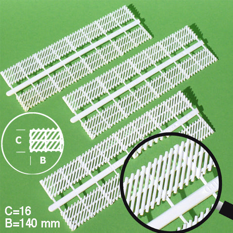 FENCE ELEMENTS, DIAGONAL, WHITE, M=1:50 (8 PCS)
