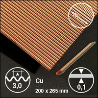CORRUGATED COPPER, SIZE = ca 200 x 300 MM (SELECT WAVELENGTH)