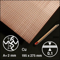 CROSS-CORRUGATED COPPER, SIZE = ca 200 x 300 MM (SELECT WAVELENGTH)