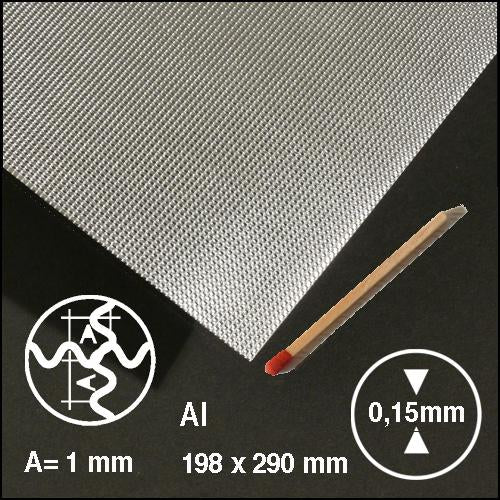 CROSS-CORRUGATED ALU, SIZE = ca 200 x 300 MM (SELECT WAVELENGTH)