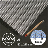 EXPANDED, CORRUGATED ALU, SIZE = ca 200 x 300 MM (SELECT WAVELENGTH)