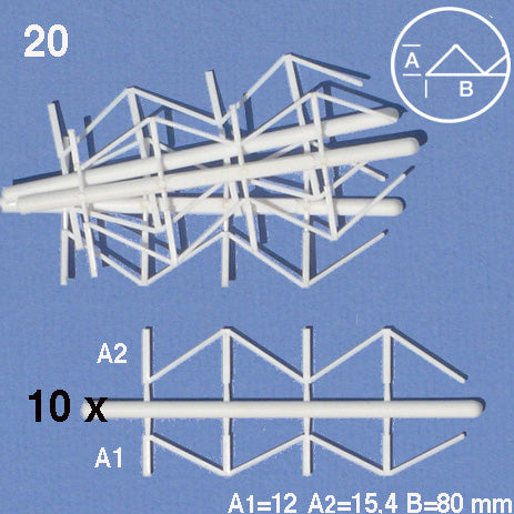 TRUSSES, WHITE (20 PCS)