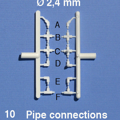 PIPE CONNECTORS, WHITE (20 PCS)