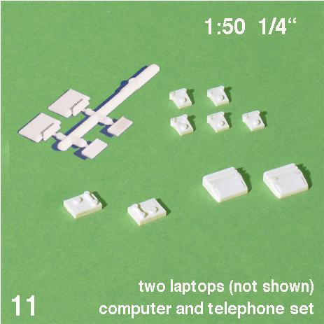 OFFICE EQUIPMENT SET, WHITE, M=1:50 (1 SET)