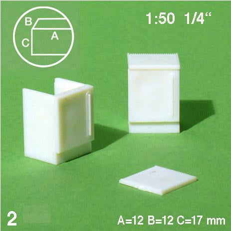 REFRIGERATORS, WHITE, M=1:50 (2 PCS)