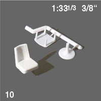 CHAIRS, WHITE, M=1:33 (10 PCS)