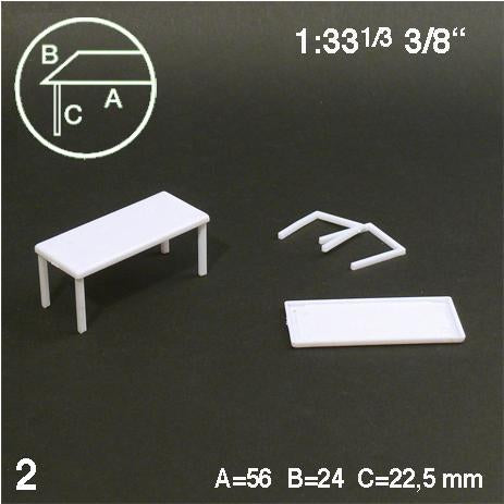 TABLES, WHITE, M=1:33 (2 PCS)