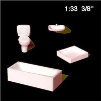 SET OF BATHROOM APPLIANCES, WHITE, M=1:33 (1 PC)
