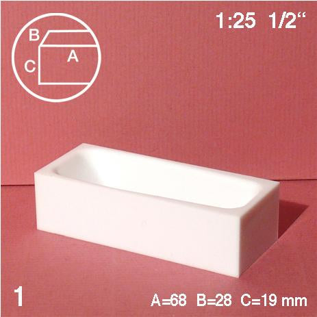 BATH TUB, WHITE, M=1:25 (1 PC)