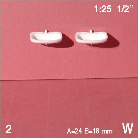 WALL SINKS, WHITE, M=1:25 (2 PCS)