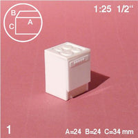 COOKER w/ OVEN, WHITE, M=1:25 (1 PC)