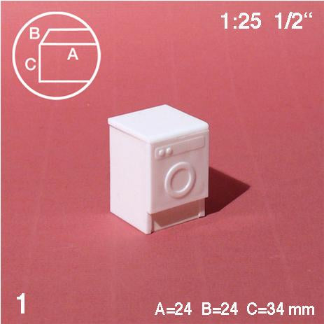 WASHING MACHINE, WHITE, M=1:25 (1 PC)