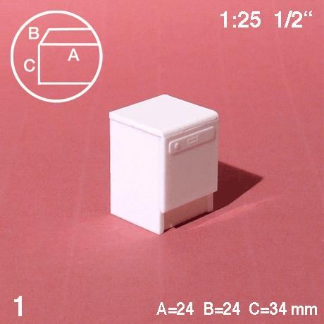 DISHWASHER, WHITE, M=1:25 (1 PC)