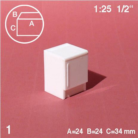 REFRIGERATOR, WHITE, M=1:25 (1 PC)