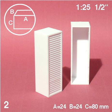 WARDROBES, WHITE, M=1:25 (2 PCS)