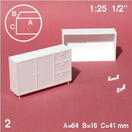HIGHBOARD, WHITE, M=1:25 (2 PCS)