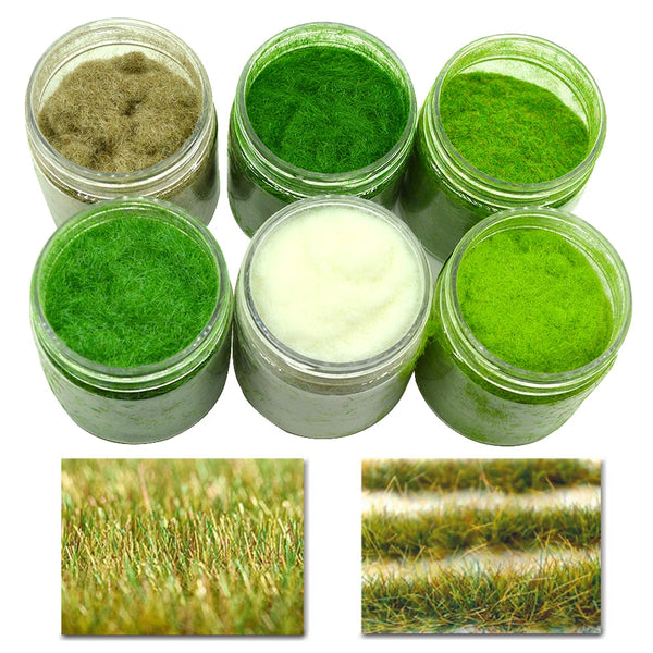 STATIC GRASS POWDER / TURF NYLON, 6 COLOURS (60 g)
