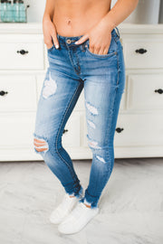 KanCan Vera Distressed Skinnies