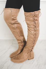 Brodie OTK Boots (Taupe)