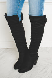 Kimberly Over The Knee Boots (Black)(FINAL SALE)