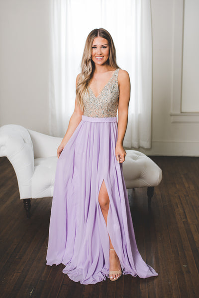The Diana Gown (Lavender) FINAL SALE