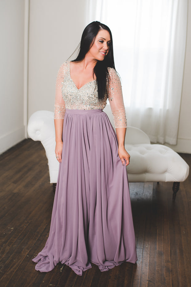 The Genevieve Gown (Mauve) FINAL SALE