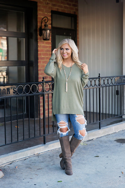 All The Good Things Sweater (Olive)