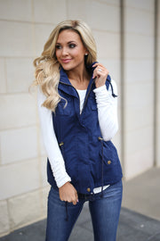 Everything's Under Control Vest (Navy)