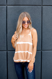 Blurred Lines Twist Tank (Mustard) FINAL SALE