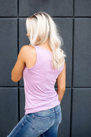 It's Time Criss Cross Tank (Lavender)
