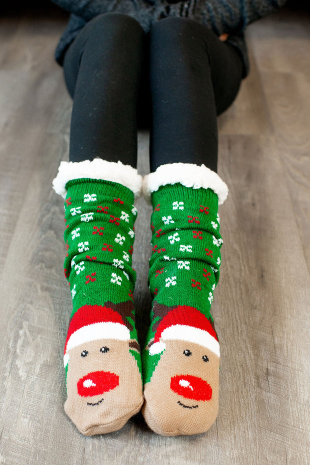 Reindeer Socks (3 Prints) DOORBUSTER