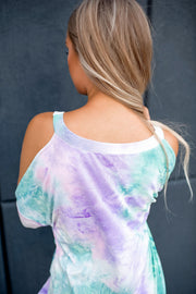 Take A Dip Tie Dye Top (Pink/Mint/Lilac)