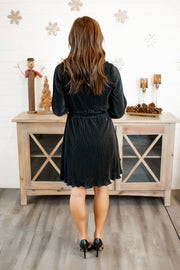 Pleats and Thanks Dress (Black)