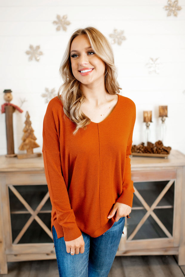 All The Good Things Sweater (Bronze) FINAL SALE