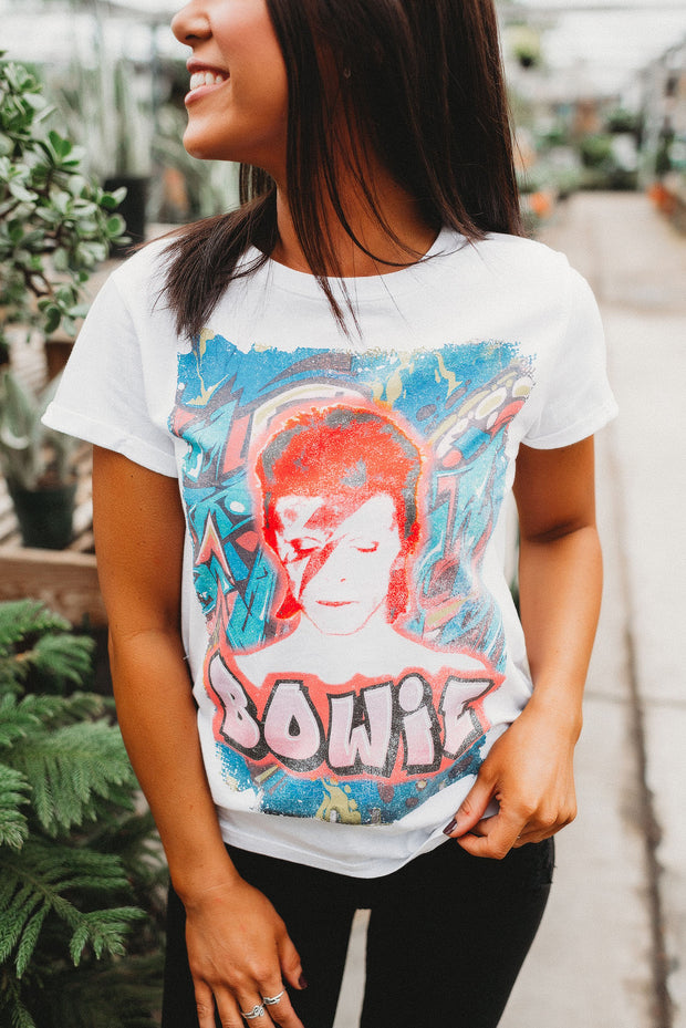 Bowie Artwork Tee (White)