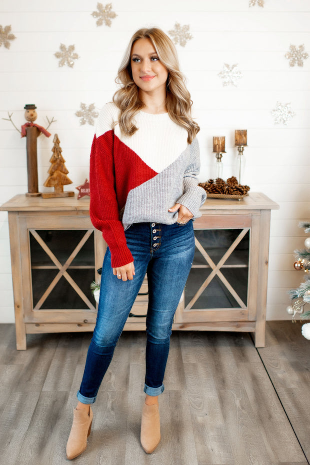 The Tula Knit Sweater (Red) FINAL SALE