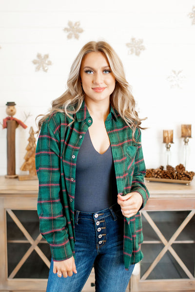 Trendy Trails Flannel (Hunter Green)